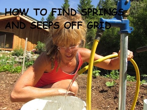 Off Grid Water: How To Find A Spring Or Seep