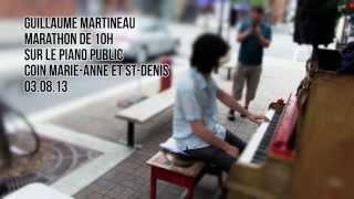 Marathon de 10h au piano de Guillaume Martineau, le 3 août 2013