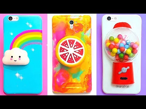 6 DIY STRESS RELIEVER PHONE CASES  Easy & Cute Phone Projects & iPhone Hacks