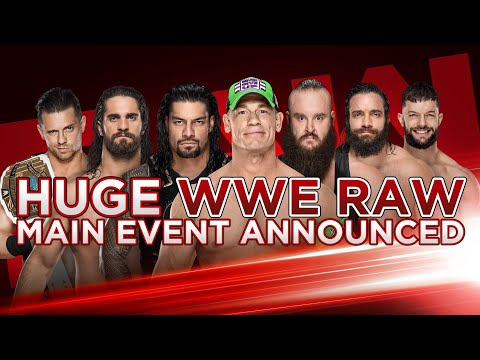 WWE RAW First Time Ever Main Event Tonight!