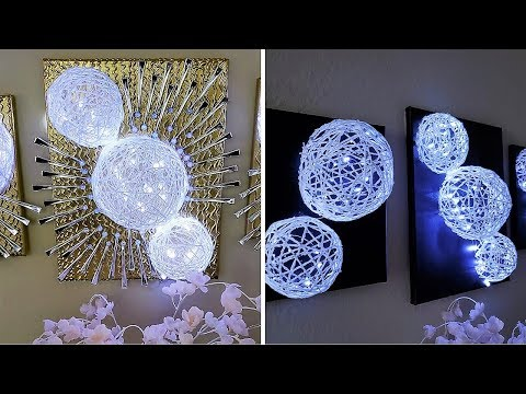 DIY 3D YARN WALL DECOR |EASY HOME DECORATING IDEA 2019