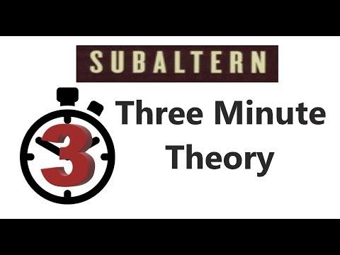 Subaltern - Three Minute Theory