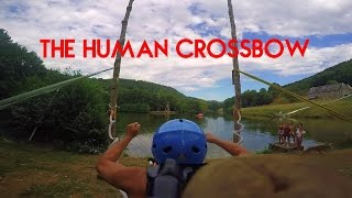 The Human Crossbow - Epic Human Slingshot | RadCow