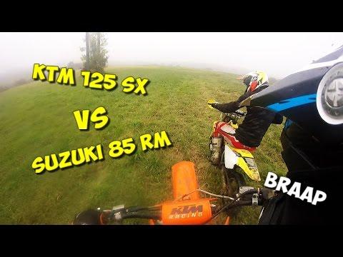 KTM 125 SX VS SUZUKI 85 RM (TEST)
