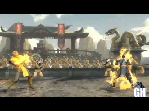 Mortal Kombat 9 Classic Scorpion Costume Gameplay Moves Fatality