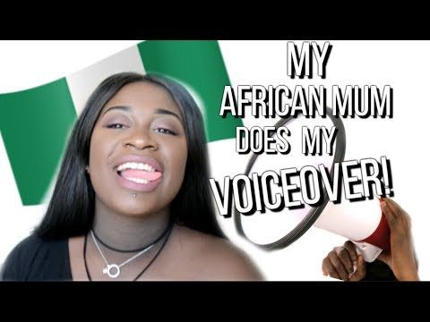 MY FUNNY AFRICAN MUM DOES MY VOICEOVER! | TASNIM DEJO ♡