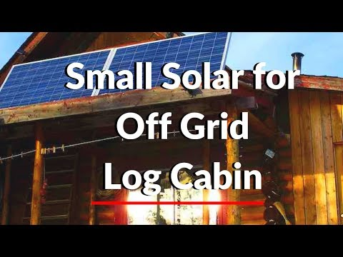 cabin - Solar Power for a small log cabin Off the Grid in Canada using 2 Conergy solar panels 230 watts each, 2000 watt Magnum Energy pure sine wave inverter, 45 amp...