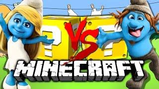 Minecraft: SMURF LUCKY BLOCK CHALLENGE | DON'T CALL PETA