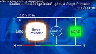 HD AC Line Surge Protector or Surge Arrester, how it works or protects.