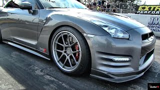 8. 900 HP GT-R vs Insane Turbo Hayabusa - Heads up 1/4 Mile Drag Race - Road Test TV