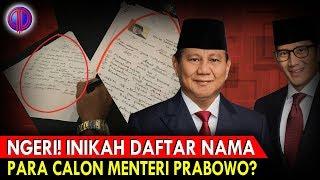 Download Video Ngeriii... Inikah Daftar Nama Para Calon Menteri Prabowo?! MP3 3GP MP4