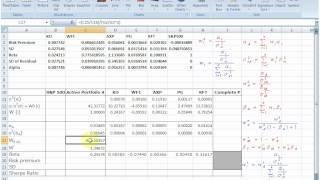 Treynor-Black Model: Excel