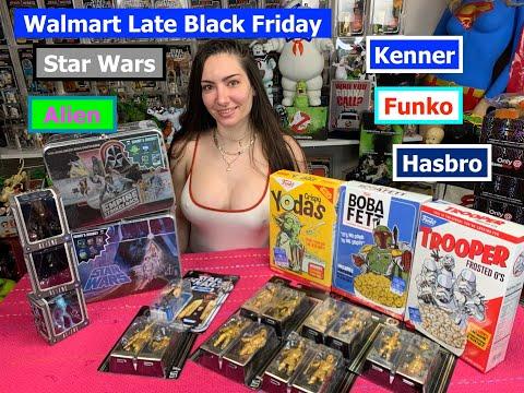 Black Friday Walmart haul   Star Wars   Funko   Hasbro   Kenner  