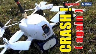 CRASHING the Youbi XV-130 FPV Drone/Quad RACER Video