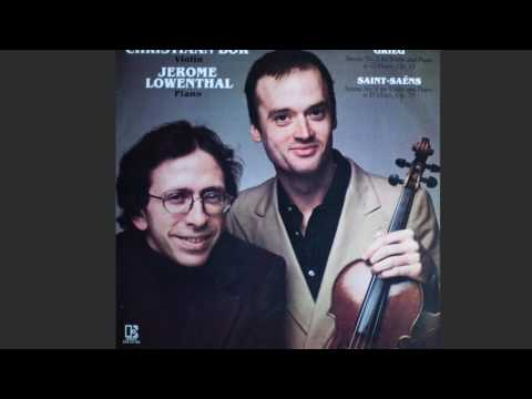 Christiaan Bor & Jerome Lowenthal, GRIEG Sonata No.2 For Violin And Piano In G Major, Op.13