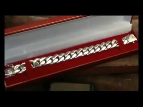 99.99 FINE SILVER CUBAN LINK BRACELET - Part making presentation (Show More below)