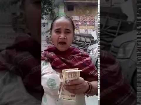 Video A women Reaction on banning of 500 & 1000 Notes against modi download in MP3, 3GP, MP4, WEBM, AVI, FLV January 2017