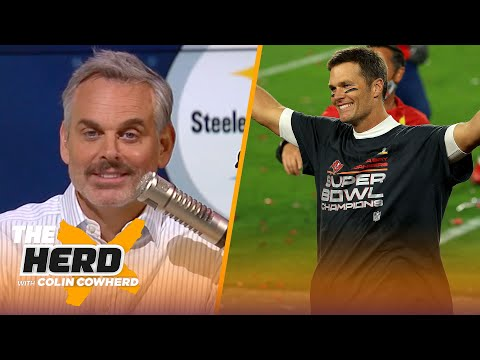 Colin reacts to Tom Brady's 'UFO' Twitter response, talks Big Ben & Steelers | NFL | THE HERD
