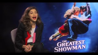 Video Zendaya on The Greatest Showman and kissing Zac Efron MP3, 3GP, MP4, WEBM, AVI, FLV April 2018