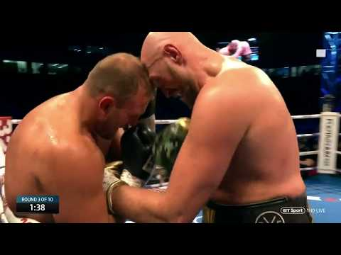 Tyson Fury vs Francesco Pianeta full fight at Windsor Park (Deontay Wilder) (видео)