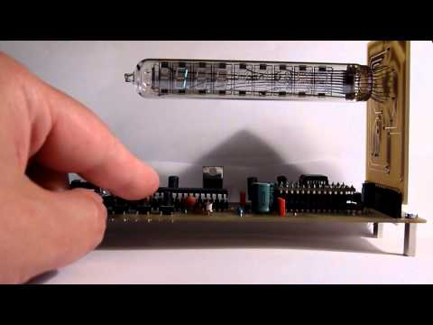 IW 18 - First PCB Version of an IV-18 clock. The IV-18 is a russian VFD tube. A MAX6921 controlled by an ATmega8 drives the tube. The microcontroller also acts as a ...