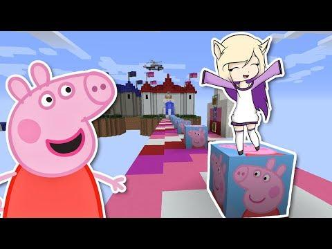Peppa Pig en español - PEPPA PIG EN MINECRAFT  LUCKY BLOCKS