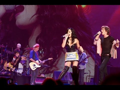 Katy Perry joins The Stones on stage in Vegas