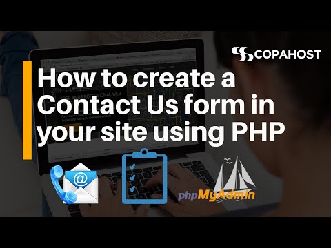 PHP Lessons - How to create a Contact Us form in your site using PHP