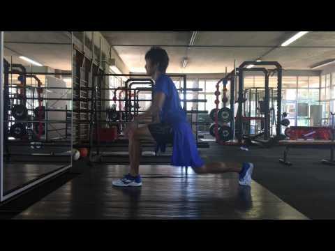 【腸腰筋・臀部の強化に】トップ選手が行うランジトレーニング3種
