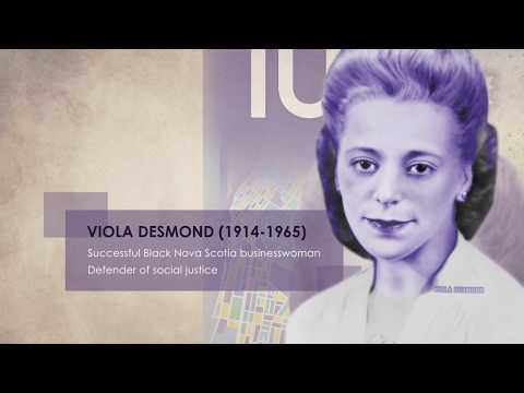 Canada's new $10 note featuring Viola Desmond