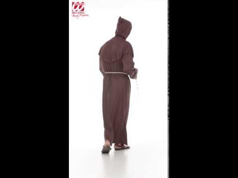 Déguisement de moine avec robe à capuche et ceinture