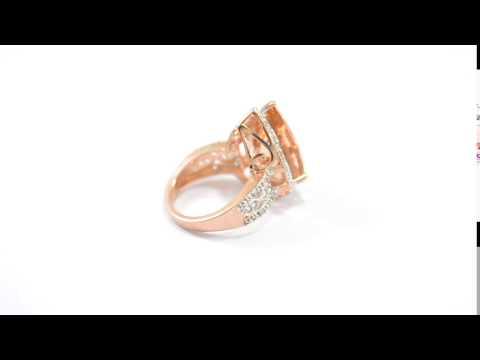 Peach Morganite Ring