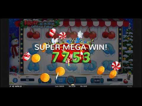 Super Big Slot Win - Fruit Shop Christmas Edition 5 of a kind cherry's