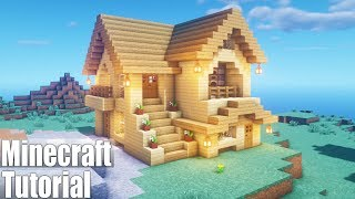 Minecraft Tutorial: How To Make A Wooden Survival House