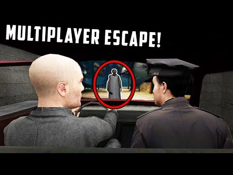 Granny Horror Game Multiplayer - CAR ESCAPE ENDING! (Granny Horror Game Online Roleplay)