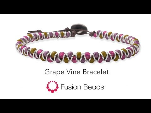 Create The Grape Vine Bracelet With Seed Beads By Fusion Beads