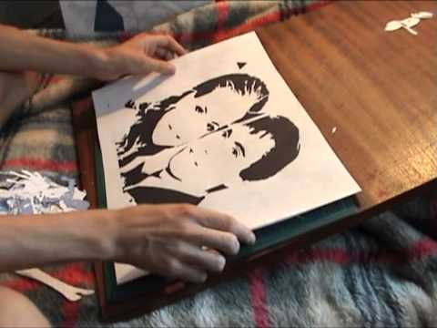 Stencil art on vinyl