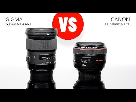 Lens Comparison: Sigma 50mm f/1.4 ART vs Canon 50mm f/1.2L (fixed)