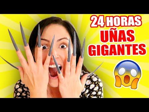 24 HORAS CON UÑAS EXTRA LARGAS 😱 Reto Extremo con Uñas Gigantes 😬 Sandra Cires Art