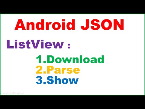 Android Native JSON : Simple ListView – Download,Parse and Show