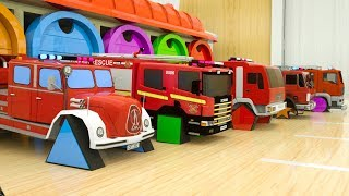 Video Learn Shapes with Fire Trucks Assembly Rectangle Tyres, Surprise Garage Street Vehicles for Toddlers MP3, 3GP, MP4, WEBM, AVI, FLV Februari 2019