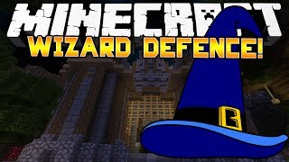 Minecraft Minigame: WIZARD DEFENCE! - (Kit PVP) - w/Preston&Woofless