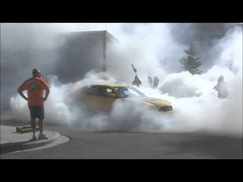 Seeing beyond the smoke – Dodge Charger burnout
