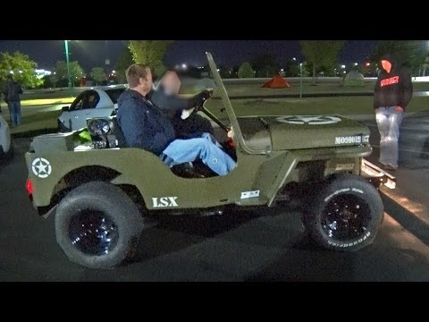 RIDING in the 750hp LSx Willys Jeep