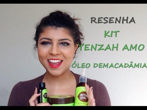 Resenha em vídeo :  Kit Yenzah amo óleo de Macadâmia | Maria Karol