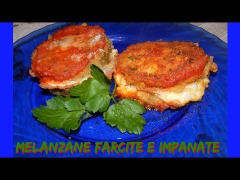 melanzane farcite e impanate - ricetta