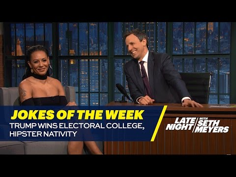 Seth's Favorite Jokes of the Week: Trump Wins Electoral College, Hipster Nativity