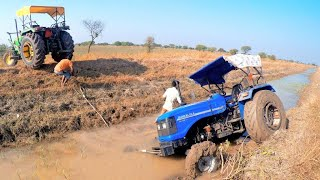 Tractor failed in canal  Tractor fail completion  Sonalika di 60 Rx stuck in mud | Part 2