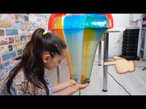 Slime Şelalesi Colorful Slime Waterfall To Excellent, Fun Kid Video