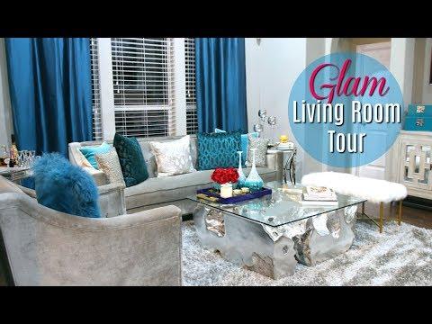 Glam Living Room Tour 2017 + Bonus- #MovingWithMissy ep. 2